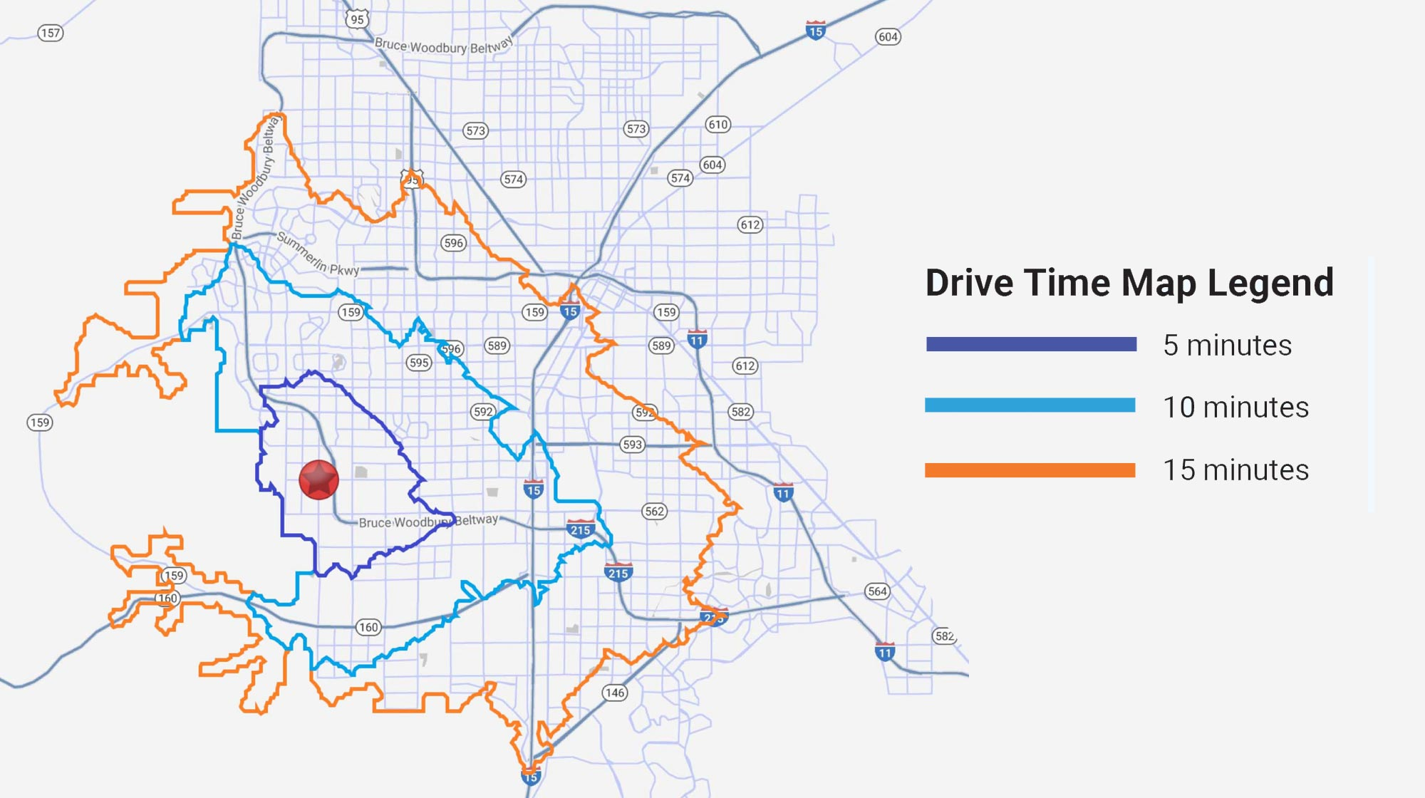 Pennant Development | Drive Time Map